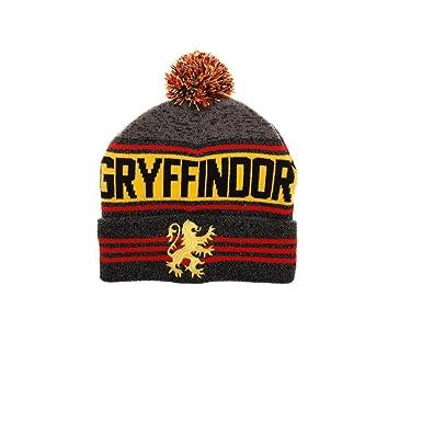c0ec222cec9 Amazon.com  Bioworld Harry Potter Gryffindor Rolled Knit Beanie ...