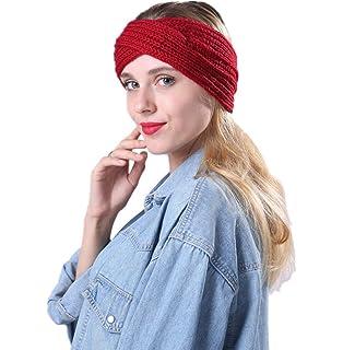 6807c00fabe YSJOY 6 Pack Women Girls Silk Satin Headbands Solid Color Elastic Hairband  Twisted Turban