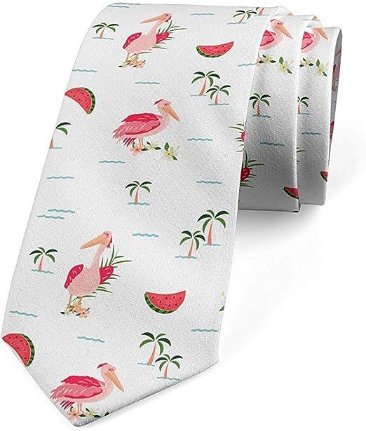 Corbata para hombre, flora y fauna hawaiana, coral oscuro rosa ...