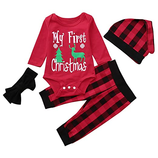 d201839f0276 Amazon.com  Goodtrade81 My First Christmas 3pc Toddler Infant Baby ...