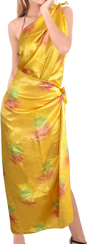 LA LEELA Women Plus Size Swimsuit Sarong Bikini Swim Beach Cover-Ups Full Long C