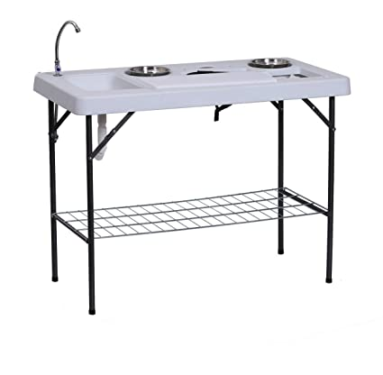 Amazon Com Portable Flodable 49 75 L Fish Cleaning Table
