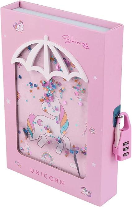 Amazon.com: Diario de unicornio con cerradura para niñas ...