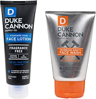 product image for Duke Cannon Supply Co. - Mens Face Care Bundle Gift Set (2 Piece Set) Includes Standard Issue Lotion (3.75 oz) & Working Man's Face Wash (4 oz)