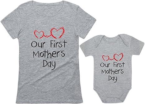 Baby Life Mum Life Matching Mother Baby Gift Set Womens T Shirt /& Baby T Shirt