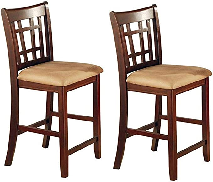 Lavon 24 Counter Stools Tan And Brown Set Of 2 Furniture Decor