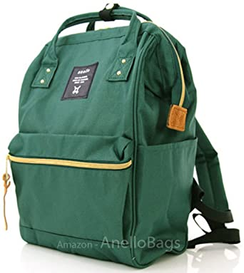 e753eb730edd Japan Anello Backpack Unisex MINI SMALL GREEN Rucksack Waterproof Canvas  Campus Bag