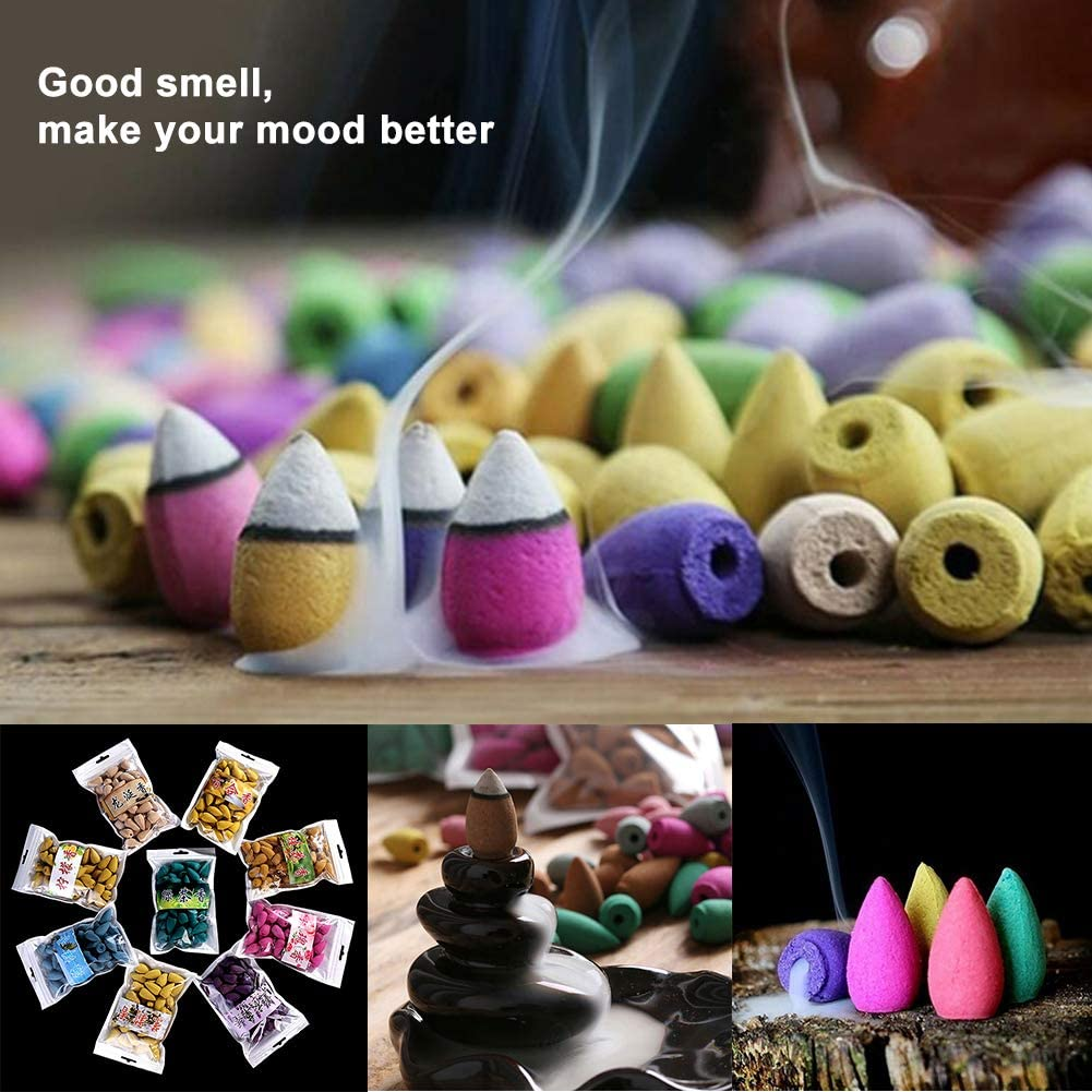 MG554zy0 45Pcs Natural Smoke Back-Flow Tower Incense Cones Fragrance Scent Aroma Spice 45Pcs Natural Smoke Back-Flow Tower Incense Ambergris