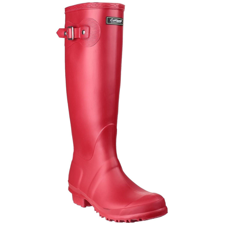 Cotswold - Botas de Agua Wellingtons Modelo Sandrigham con Hebilla para Mujer (39 EU/Rojo) UTFS1299_46