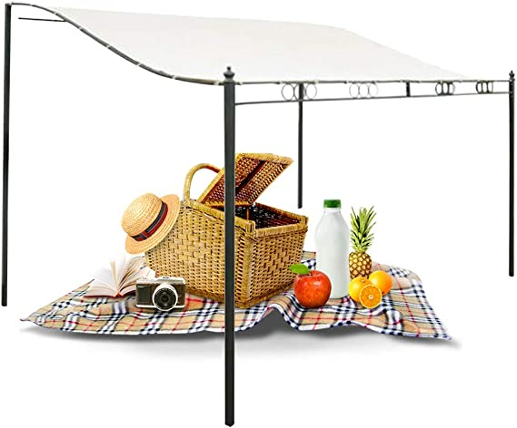 Canopy Instant Shelter Nishci DIY Patio Retractable Manual Awning Garden Sun Shade Canopy Gazebo with Waterproof Tear Resistance Cover