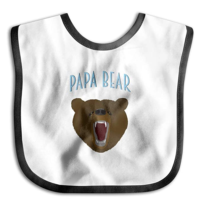 6baab7318a Amazon.com  Papa Bear Head 1 Baby Drool Bibs Baby Skin Wrap Bib Soft  Unisex  Clothing