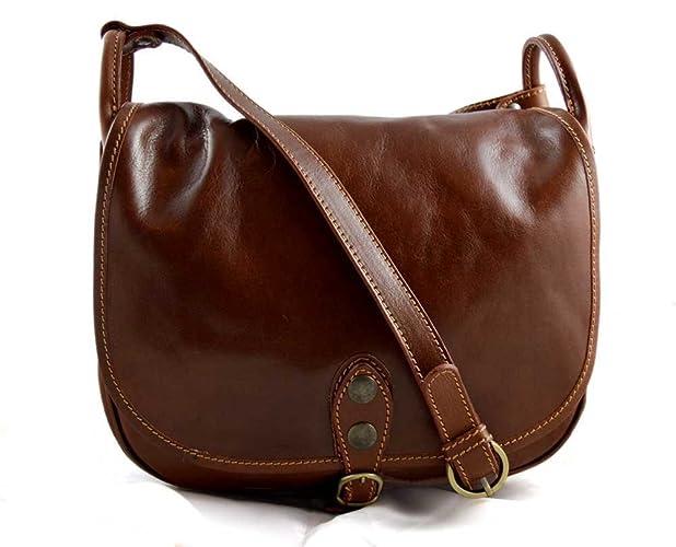 02d4af0f2e5f6 Damen leder tasche gürteltasche hüfttasche umhängetasche schultertasche  tragetasche ledertasche damen leder made in Italy braun