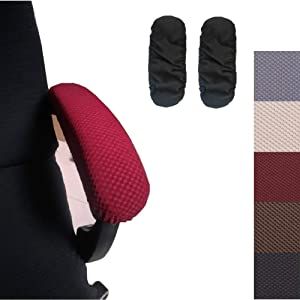 Ousicas Chair Arm Pad Covers Overs,Removable Washable Office Chair Armrest Covers Pads (Black)