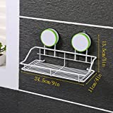 YXN Plastic Bathroom Shelf Suction Wall Makeup Rack Kitchen Shelf Nail-free Suction Cup (Color : Green)