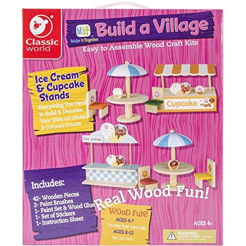 Classic Build A Village Cupcake/Ice Cream Set Building Kit (Kit Village)