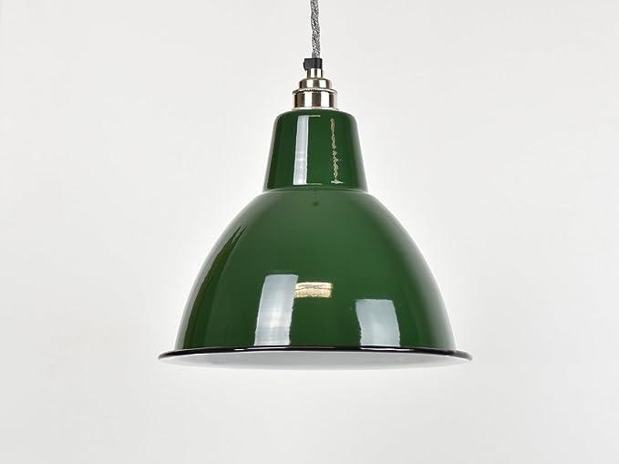 37bdb6e28024 Classic Green Dome Industrial Enamel Vintage Factory Warehouse Style Light Lamp  Shade: Amazon.co.uk: Lighting