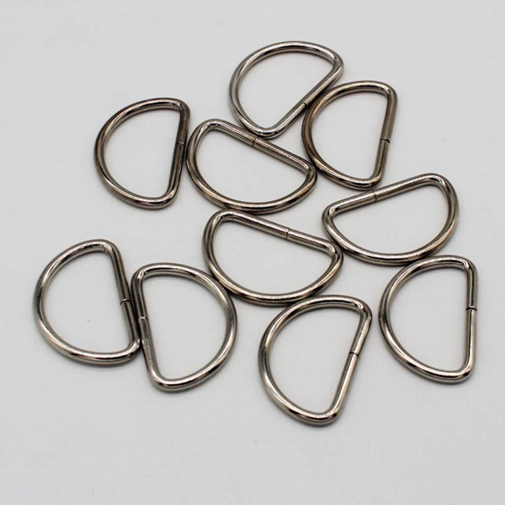 P Prettyia 10Pcs Anello D Metallo Non Saldato 25mm per Fibbia Borse Cintura