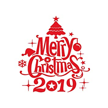 Merry Christmas Images 2019.Amazon Com 2019 New Year Merry Christmas Wall Sticker