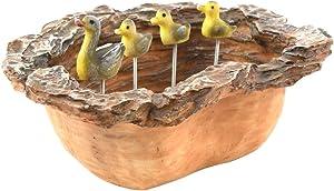 TG,LLC Miniature Duck Water Pond Fairy Garden Decor Outdoor Dollhouse Landscape Accessory