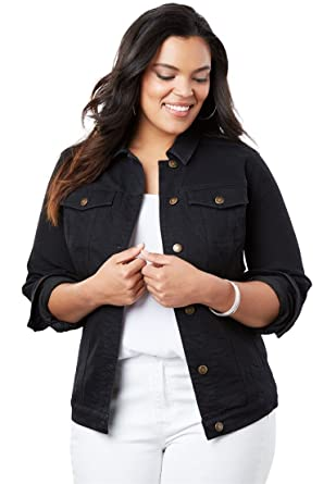 c36c73e481e57 Image Unavailable. Image not available for. Color  Women s Plus Size  Essential Denim Jacket