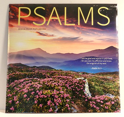 2016 Psalms 16 Month Wall Calendar