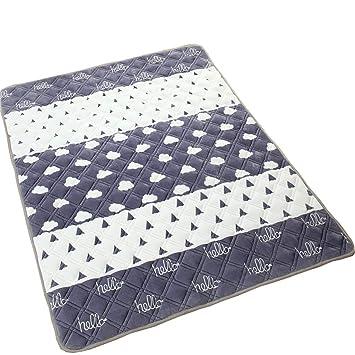 Colchonetas para colchones para niños [Dormitorio para Estudiantes] Colchoneta para tapetes tapizada Crystal Velvet Carpet Gray (Tamaño : 120 * 200cm): ...