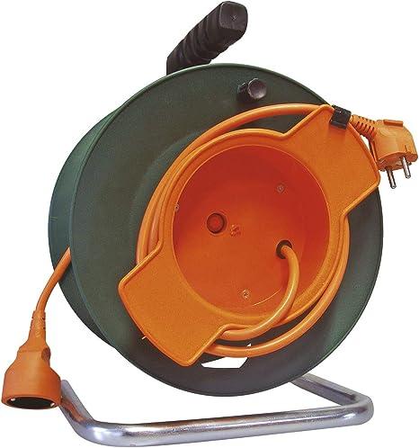 Emos - Carrete alargador de Cable para jardín (50 m, con ...