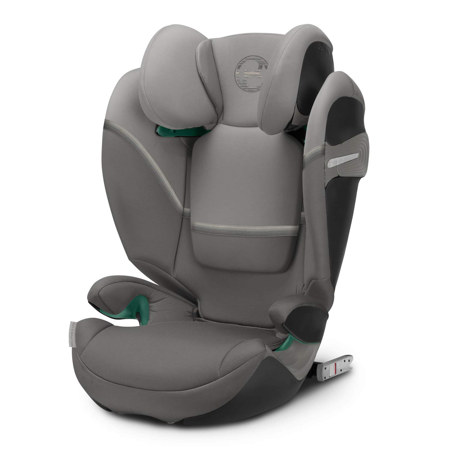 CYBEX Gold Solution S i-Fix Child's Car Seat, Tested Latest UN 129/03 Safety Standard, Group 2/3 (15-36 kg), From Approx. 3 to Approx. 12 years, Soho Grey