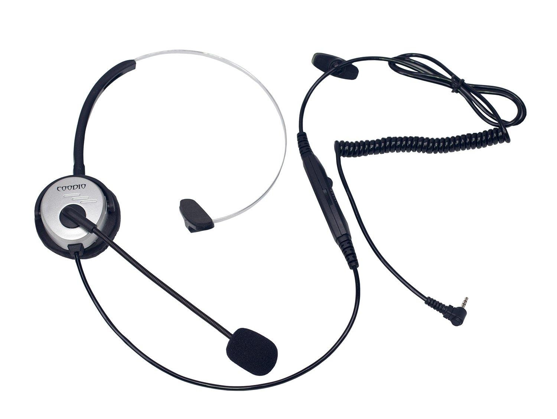 Coodio Teléfono fijo inalámbrico DECT Auriculares [conmutador de silencio] [Control de Volumen] Auricular con Micrófono [Cancelación de Ruido] Para ...