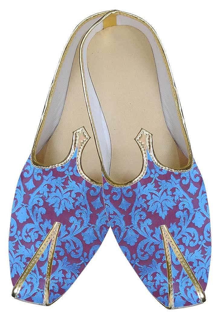 INMONARCH Cuan simpática Sea Azul Hombres Zapatos de Recepción MJ0099 38.5 EU