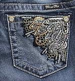 Miss Me Women's Wing Back Pocket Boot Cut Denim Jean, MK, 29