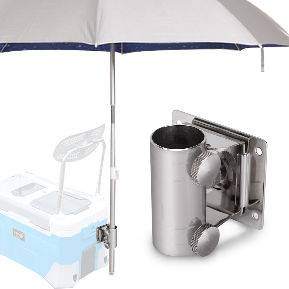 Dilwe ombrello da pesca supporto di base sedia qualit/à regolabile staffa Umbrella Fix in acciaio INOX con piastra di montaggio e viti per pesca