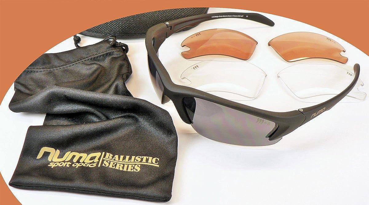 Grey, High Contrast, Clear Black Frames 3 Lens Kit Numa Tactical Chisel Tactical Military Sunglasses