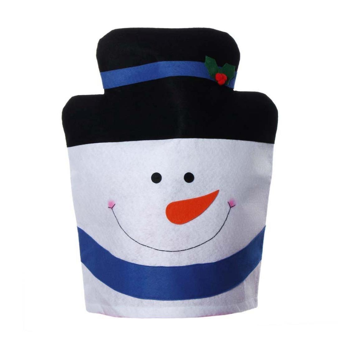 (Black) - Yoyorule Christmas Snowman Chair Covers Home Decoration (Black) B016XVZ7OI ブラック