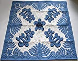 Hawaiian Quilt, Wall Hanging, Baby Crib Blanket, 100% Hand Quilted and 100% Hand Appliquéd 42'' x 42''