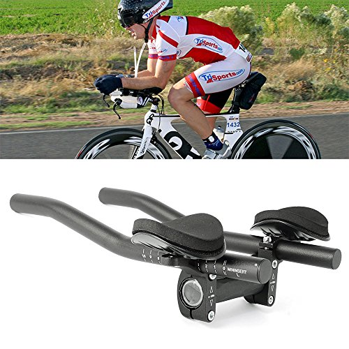 Top Home Dec TT Handlebar Aero Bars Triathlon Time Trial Tri Cycling Bike Rest Handlebar for Bicycle Aerobars, Moutain Bike or Road Bike - Aero Tri Top