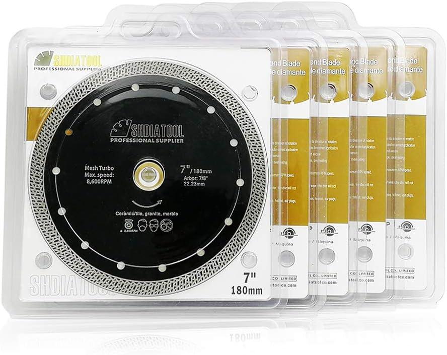 SHDIATOOL Disco Tronzador de Diamante 230MM con Malla Turbo Hoja de Sierra para Porcelana Azulejos Cer/ámica Granito M/ármol