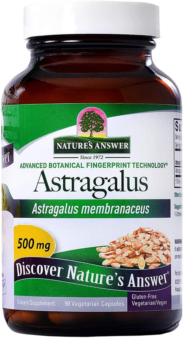 Nature s Answer Astragalus Root, 90-Count