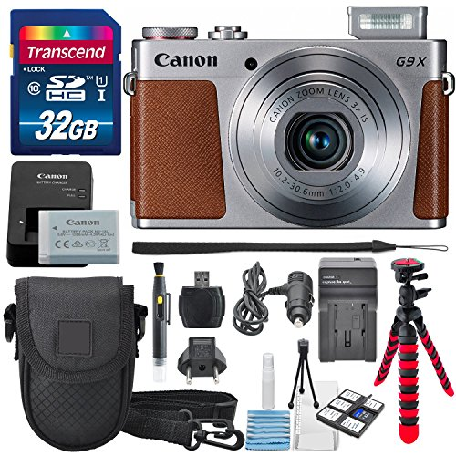 Digital Camera with 3x Optical Zoom, Built-in Wi-Fi USA Warranty +Total of 32GB SDHC & AC/DC Travel Charger + Deluxe Accessory Bundle (Best Canon Film Camera)