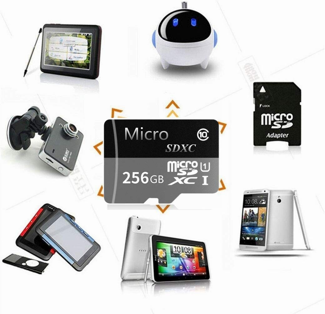 Micro SD Card 256GB High Speed Class 10 Micro SD SDXC Card with Adapter by genericc