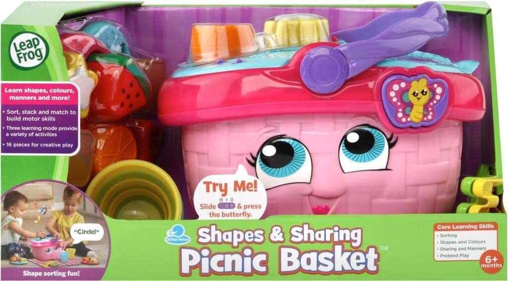 image of LeapFrog shapes and sharing picnic basket in a box.