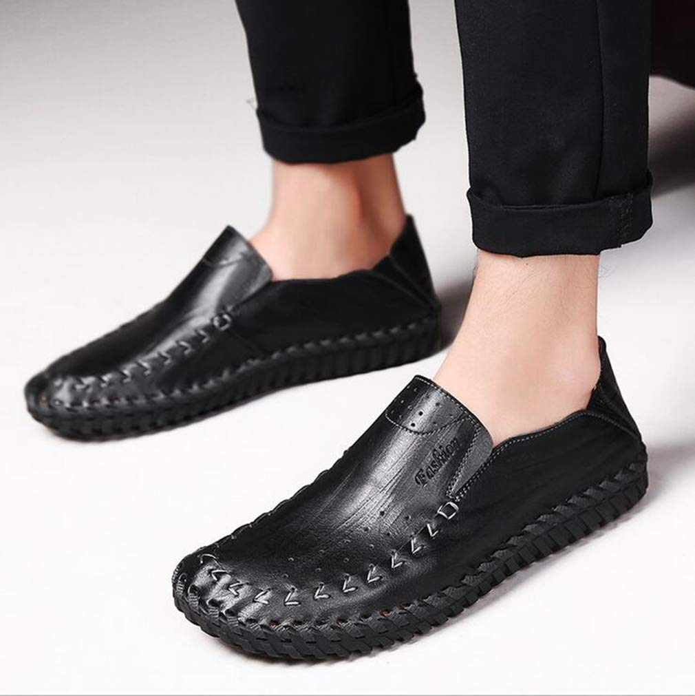 Hy Herrenschuhe, Spring Fall Leder Leder Fall Formal Business Schuhe, Flat Comfort Driving schuhe, Loafers & Slip-Ons Lazy Schuhe Peas Schuhe Office & Karriere,b,43 4dd330