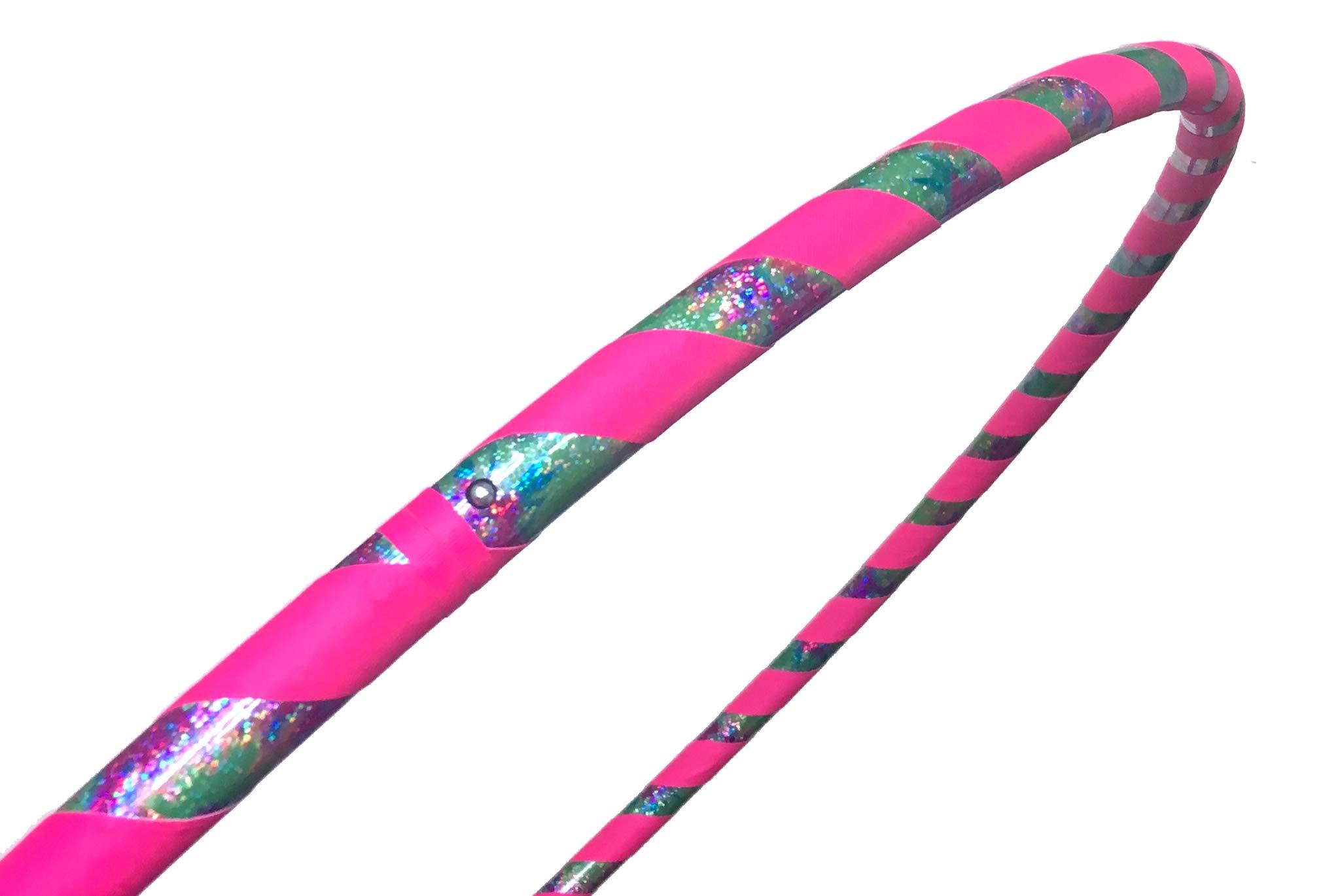 SpinMajik Kids Hula Hoop (Tie Dye UV Pink, Medium (32''))