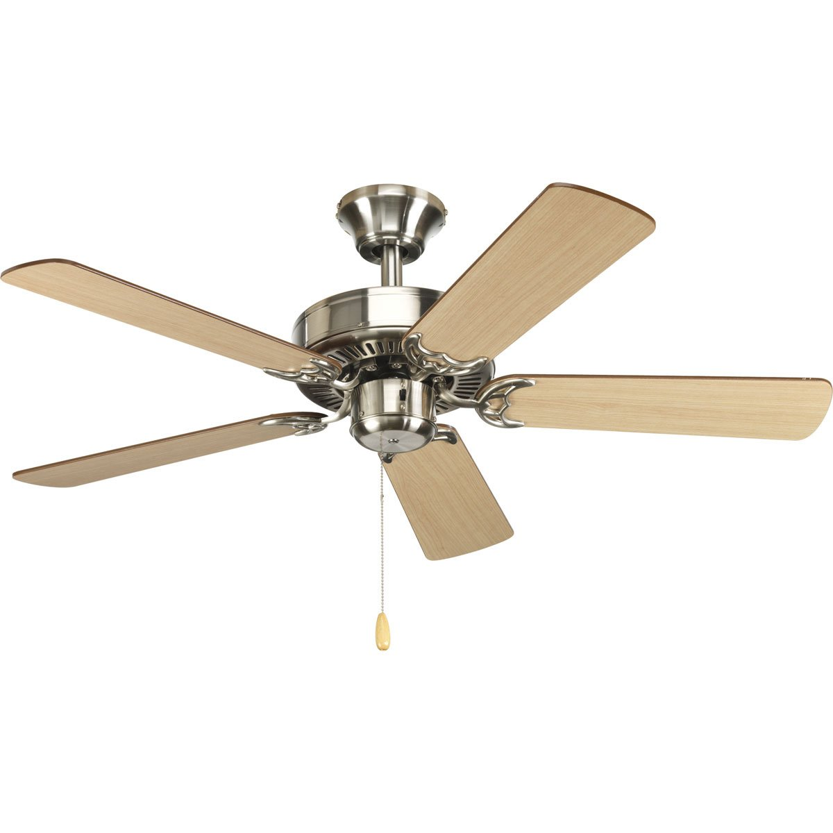 Progress Lighting P2500-09 42-Inch Fan with 5 Blades with Reversible Cherry/Natural Cherry Blades, Brushed Nickel by Progress Lighting (Image #1)