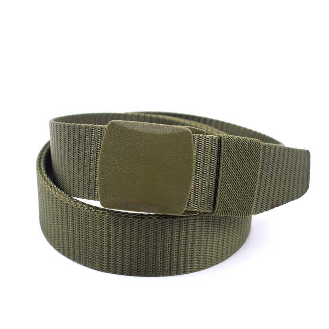 Romanlin Tactical Belt for Men Buckle Strengthen Nylon Webbing Adjustable for Outdoor