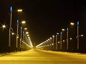 Luces Solares Al Aire Libre Focos Aplique de Pared Solar Luces de Jardín Impermeable 70W Led Farola Ip65 Ac85-265V Lámpara de Carretera para Parque Exterior, Conservación de Energía Frente/Jardines Y: Amazon.es: Bricolaje