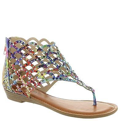 a64c9ce02111a4 Amazon.com | ZIGI SOHO Women's Mela Pink Multi 7.5 M US | Sandals