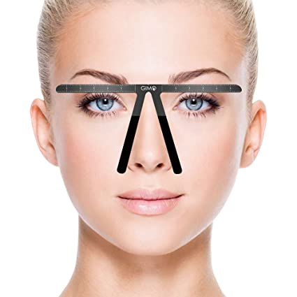 Regla para cejas de tatuaje, posicionamiento permanente de tres ...