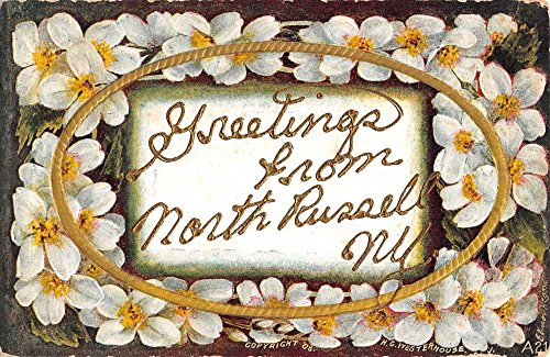 North Russell New York Flower Greeting Antique Postcard K89217