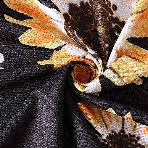 Tournesol Élégant Des Femmes Birdfly Et Laisse Robe Maxi Taille Mince Modèle 51